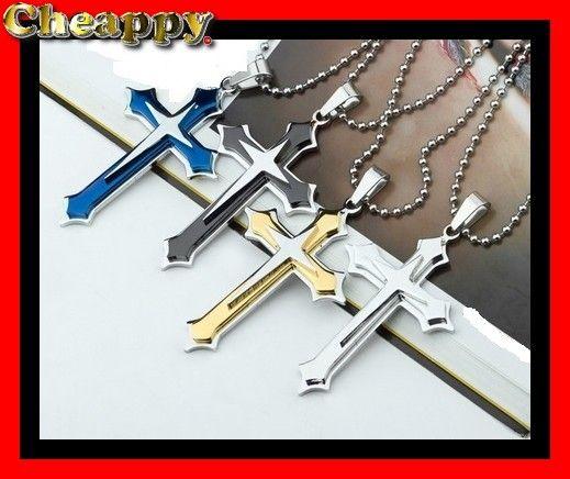 Mooi stalen Kruis verkrijgbaar in 4 verschillende kleuren - Cheappy