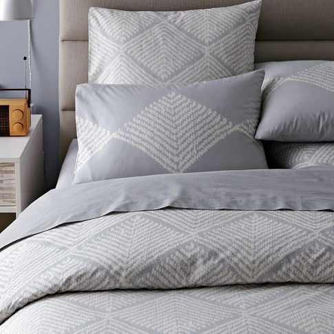 Organic Diamond Texture Duvet Cover + Shams @ West Elm Queen Sized Insert +  Duvet And Standard Sham
