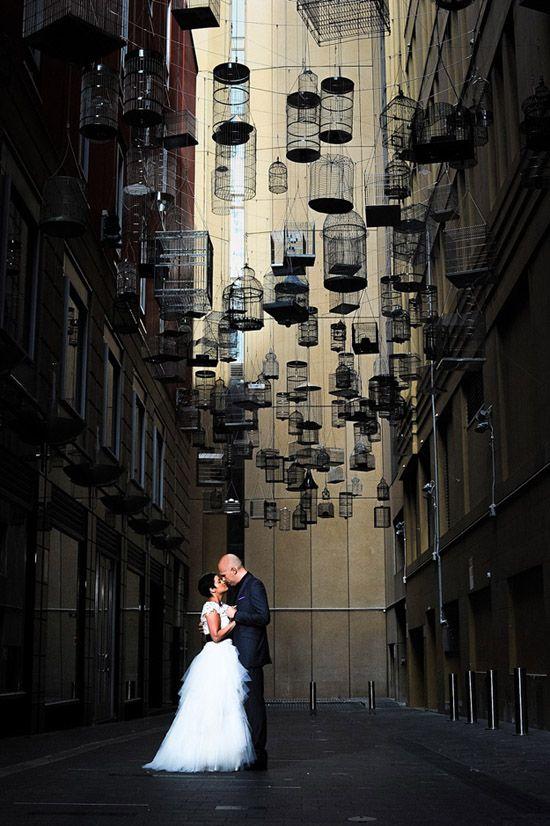 I just like the birdcages...Megan & Zelko's Chic Sydney Wedding
