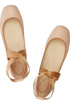 Chloéleather ballet flats that look like pointe shoes - would love to splurge on these.