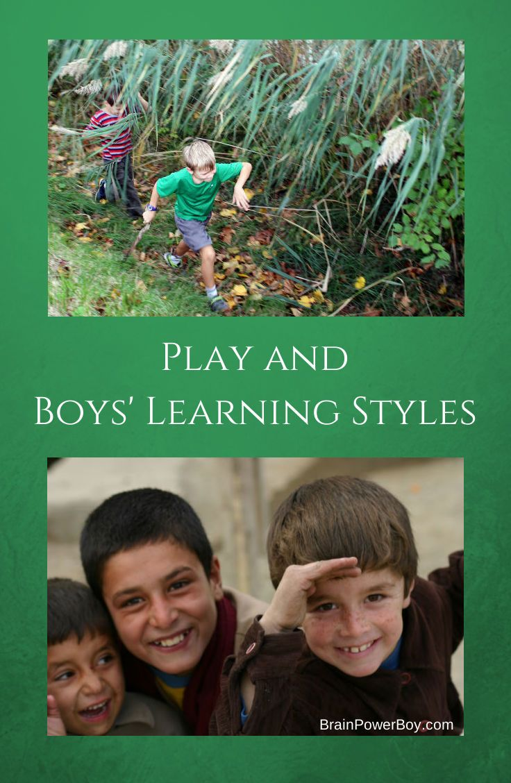Play and Boys Learning Styles