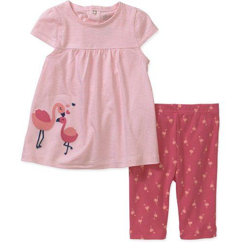 b77e78341 Child of Mine by Carters Newborn Girl Dress and Pants Set: Baby Clothing :  Walmart.com | Matthyew&Rileigh | Newborn girl dresses, Newborn girl outfits,  ...