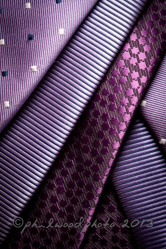 276:365:2013 - Dots and dashes Purple Patterned Ties
