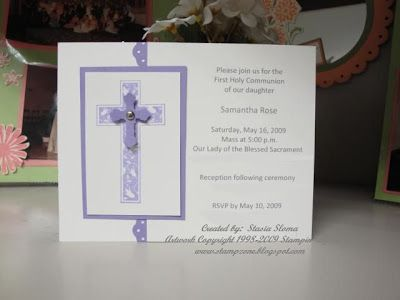 1st Communion Invitation