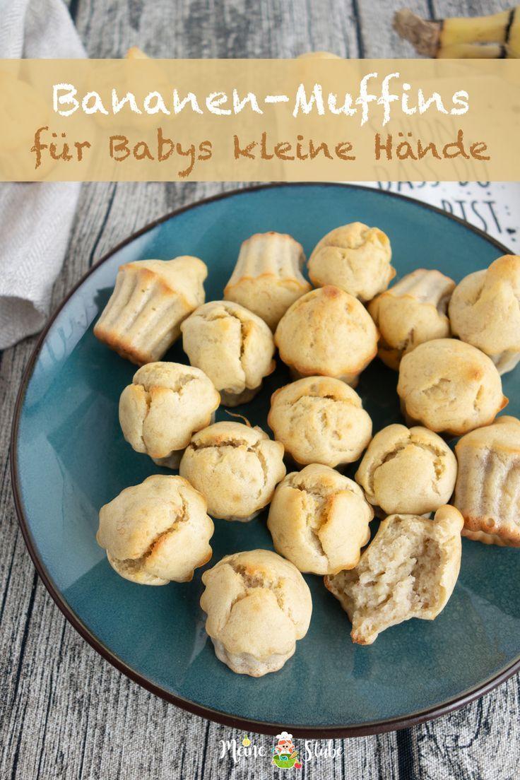 Mini-Bananen-Muffins für kleine Babyhände   – Bananen Rezepte für Kinder