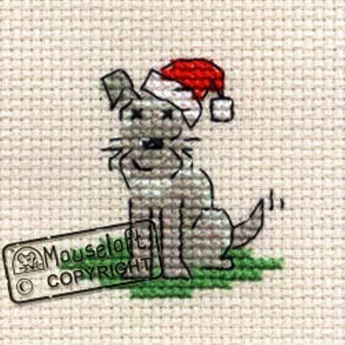 "Mouseloft Stitchlet Cross Stitch Card Kit""Little Dogs Christmas"": Amazon.co.uk: Toys & Games"