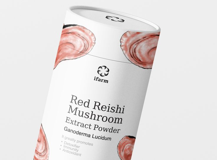 iFarm Red Reishi Mushroom Extract Powder on Packaging of the World - Creative Package Design Gallery
