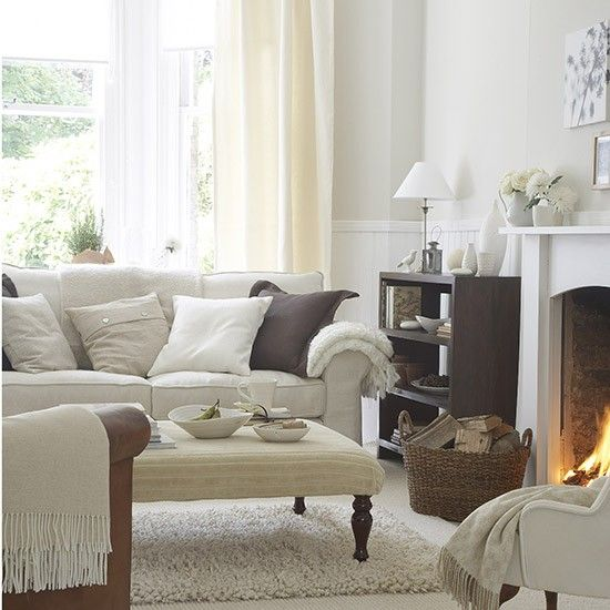 Living room in soft natural shades | Living room ideas | Living room | PHOTO GALLERY | Ideal Home | Housetohome.co.uk