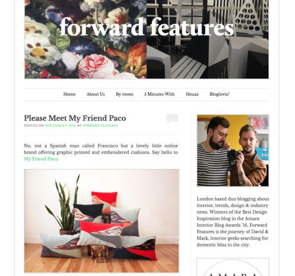 Cushions My Friend Paco At Forward Features Blog