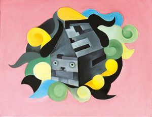 black tea milk robot, Alice's Adventures in Wonderland, oil on canvas, 41×53, 2013