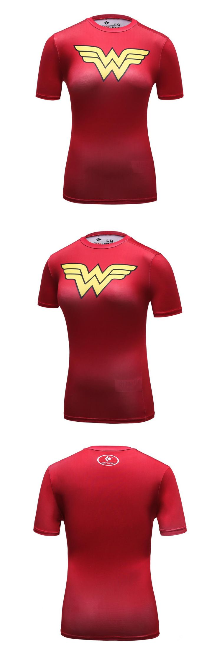 [Visit to Buy] New Arrival Cool Style DC Comics Superhero Wonder Women T Shirts 3D Printed Bodybuilding Brand T-shirt Ladies Compression Tops #Advertisement