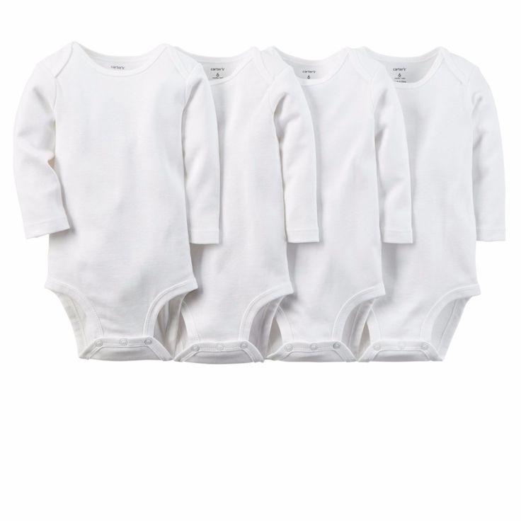 5 pçs/set Branco Puro Algodão Unisex Neutro Roupas Do Corpo Do Bebê de Manga Comprida Bebê Recém nascido Desgaste Crianças Do Miúdo Do Bebê Da Menina do Menino Bodysuit em Body de Mãe & Kids no AliExpress.com | Alibaba Group