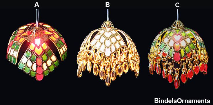 Hanging Tiffany lamps - using findings with nail polish (for colored glass) - Bindel Ornaments sells the findings