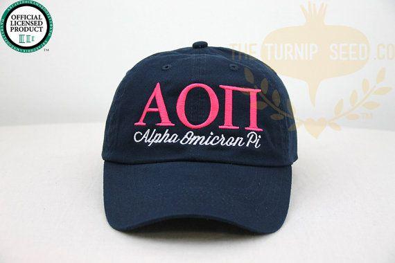 Alpha Omicron Pi sororité casquette  chapeau de par TheTurnipSeed