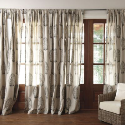 """For your living room?  Please click to see """"more views"""" because this isn't the best image.: Closet Designs, Dining Room, Ballard Anne Paisley, Living Room, Paisley Panel, Window Treatments, Ballard Designs, Paisley Curtain"""