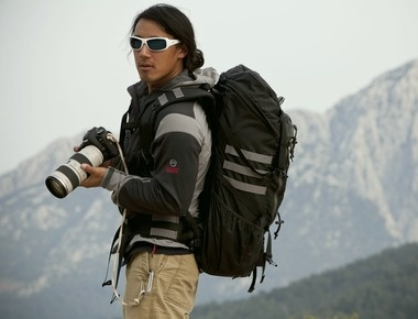 I wish I had this guy's job. This is Jimmy Chin, adventure photographer, sponsored by The North Face.