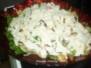 dianitas cooking: Σαλάτα του Καίσαρα (Caesar Salad Light)!!!