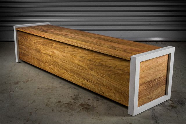 Modern Wood Bench Modern Outdoor Bench With Storage