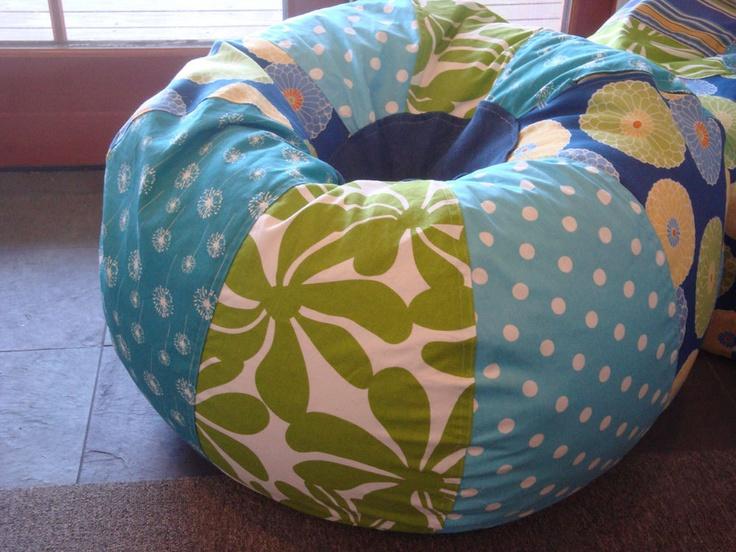 Blues and Green Beach Tropical Bean Bag chair. $130.00, via Etsy.