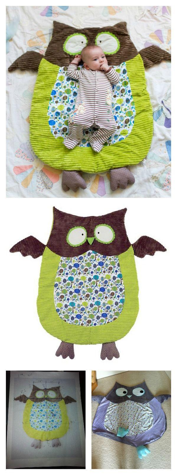 Best 25 owl blanket ideas on pinterest crochet owl blanket diy cute owl floor play mat bankloansurffo Image collections