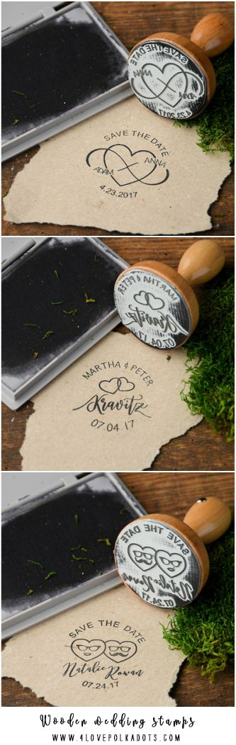 Wooden wedding stamps 4lovepolkadots #sponsored