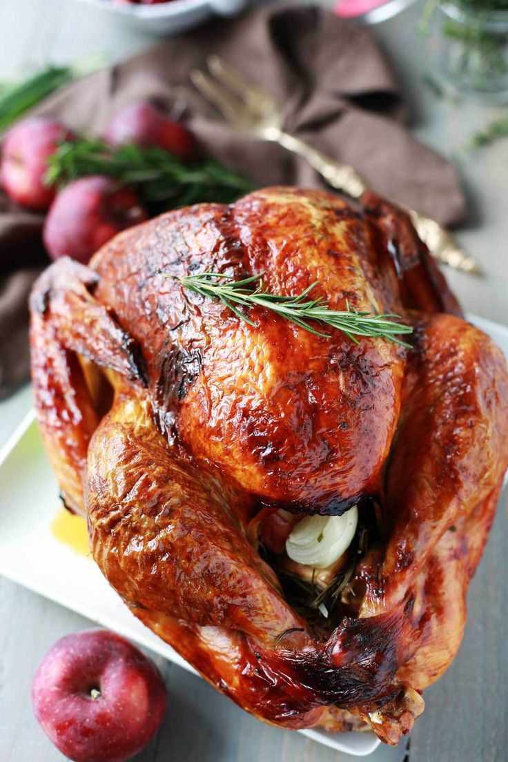 This turkey recipe for aromatic lemon, apple and herb turkey is moist, tender, delicious and the perfect centerpiece for your holiday meal! It is easy to make and bursting with flavor.
