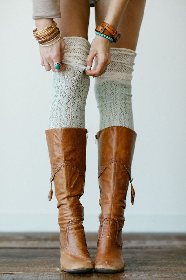 Fancy up those boots of yours with our amazing over-the-knee boot socks! Not too…