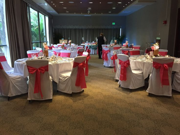 Coral chair sashes
