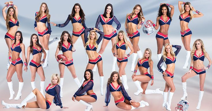 2016 Patriots Cheerleaders.