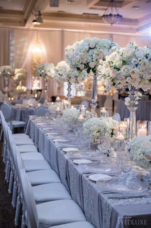 WedLuxe – A Sophisticated Wedding with Lush Floral Walls | Photography by…