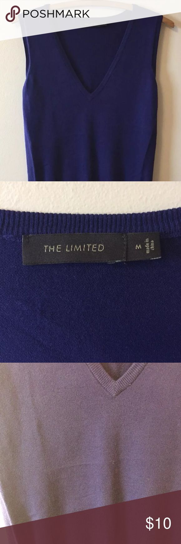 The limited deep purple sweater vest medium v Neck Deep purple sweater vest size medium. Excellent condition.  All items from smoke and pet free home. Flaws and defects will be listed in description and photographed as well if applicable. Questions welcome and thanks for the consideration. The Limited Sweaters V-Necks