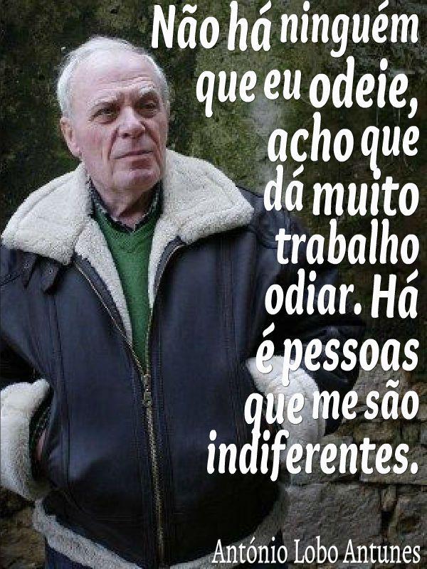 Citação de Antonio Lobo Antunes