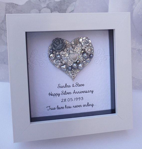 Most Recent No Cost 25th Anniversary Gift 25th Wedding Anniversary Gift 25th In 2020 25 Wedding Anniversary Gifts Silver Wedding Anniversary Wedding Anniversary Gifts