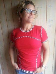 Pina ist ein geniales Damenshirt mit Teilungen und viel Spielraum für Kreativität