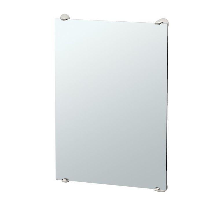 Gatco Brie 32 in. x 22 in. Minimalist Frameless Mirror in Chrome (Grey)