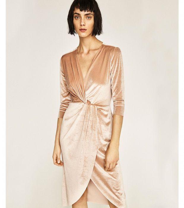 Robe de soirée de mariage velours, Zara