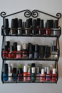 Nailpolish Organization From A Spice Rack. And I Have Enough To Fill One  Haha