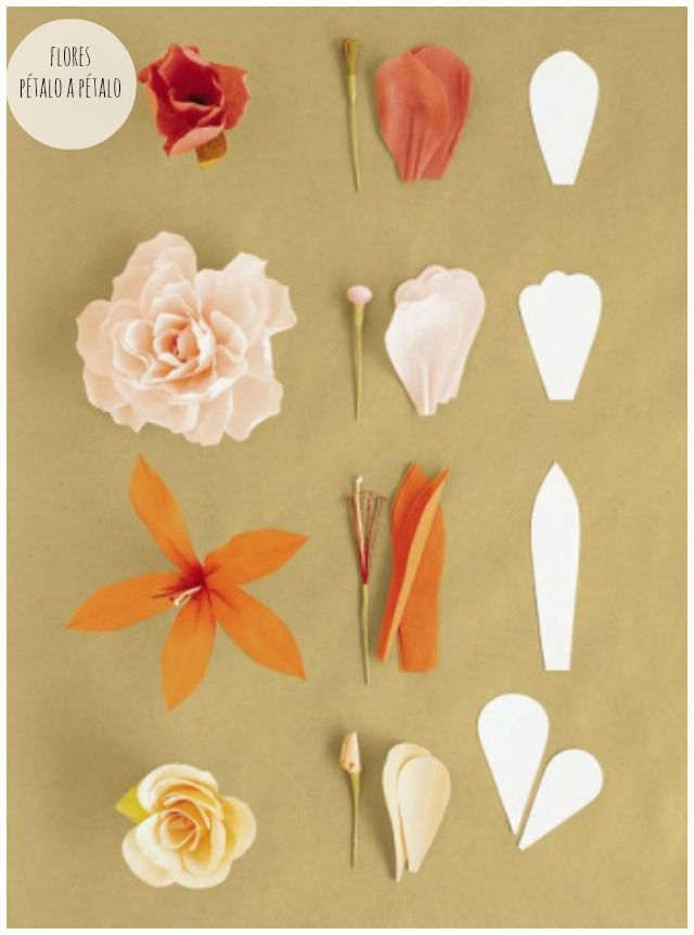 DIY ramo flores papel boda wedding bouquet flowers