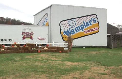 The Wampler family has been making sausage in Lenoir City for more than eight decades.    Workers at Wampler's Farm Sausage can crank out more than half a million sausage patties a day and thousands of packages of bulk sausage every hour.    Next the sausage is flash frozen and shipped all over the United States.