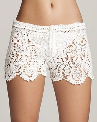 PilyQ Cheeky Eyelet Shorts | Bloomingdale's