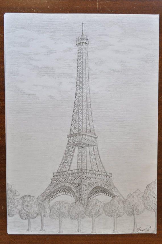 Guarda questo articolo nel mio negozio Etsy https://www.etsy.com/it/listing/468431963/torre-eiffel-disegno-parigi-matita