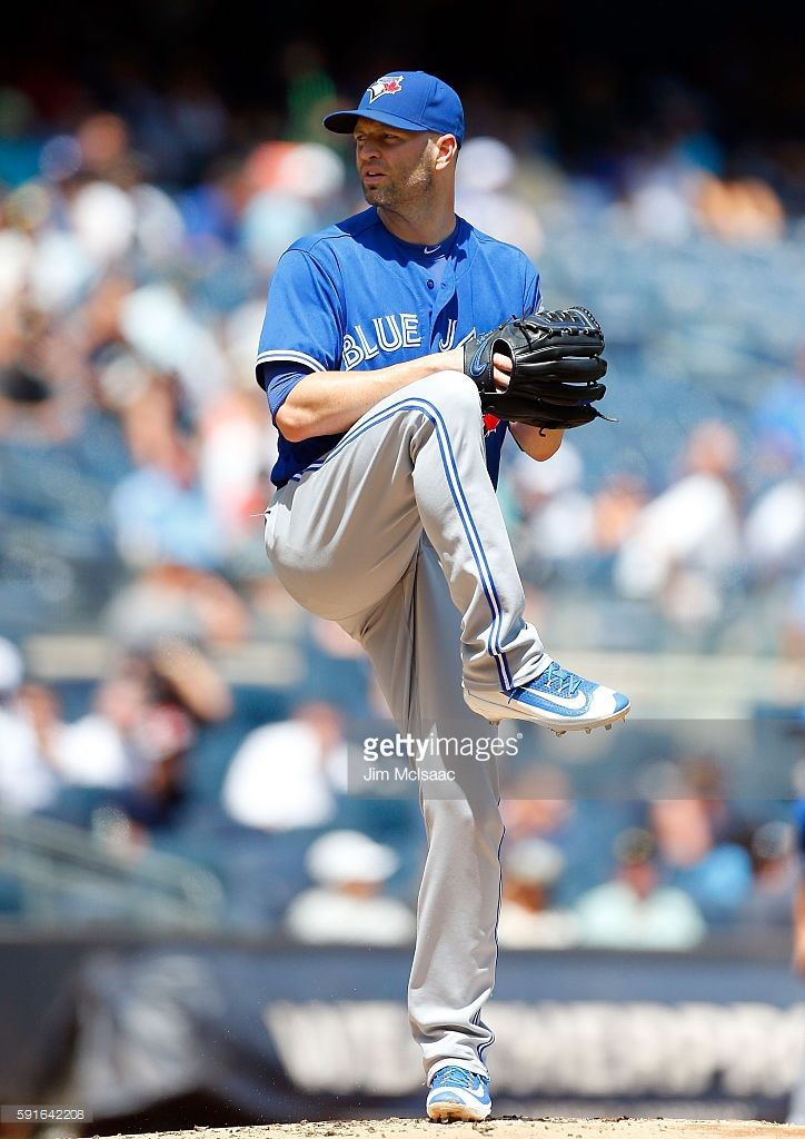 17-3 on the season!  J.A. Happ #33 of the Toronto Blue Jays in action against the New York Yankees at Yankee Stadium on August 17, 2016 in the Bronx borough of New York City. The Blue Jays defeated the Yankees 7-4.