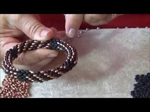 Tubular Twin Bead Pattern Necklace & Bracelet Kleshna Jewellery Craft ~ Seed Bead Tutorials