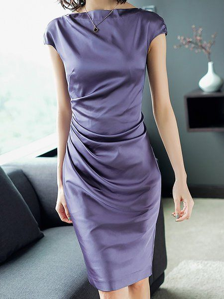 82f82bfa29e4 Buy Midi Dress For Women from A-THENA at Stylewe. Online Shopping Stylewe  Bateau