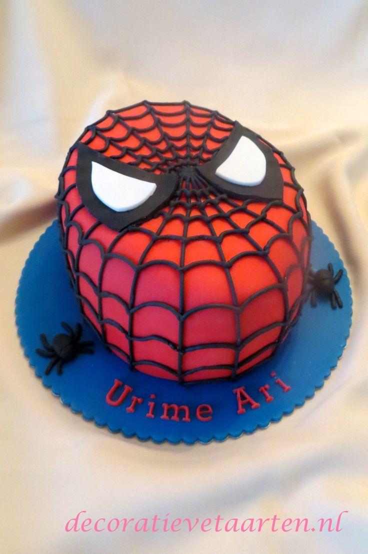 Taart 'Spiderman 2' - detail