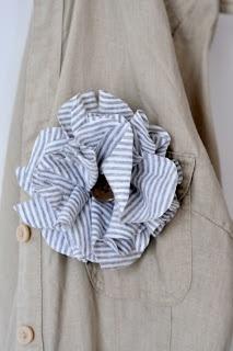 Masni Dekoráció: DIY pólóból virágkitűző / DIY reused t-shirt flower broche