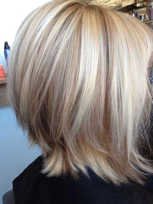 Shoulder Length Blonde Bob Hair