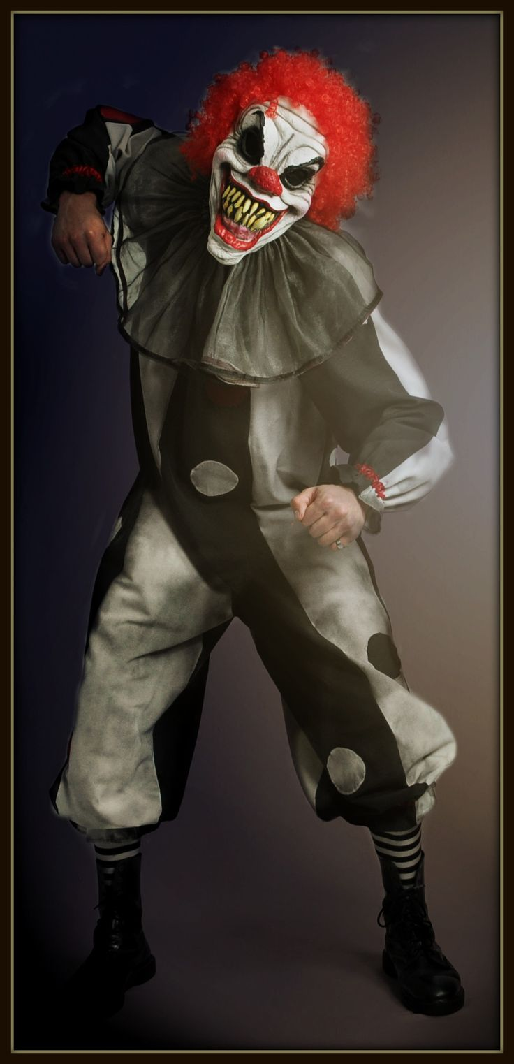Halloween costume Killer clown, designed by and available to hire at The