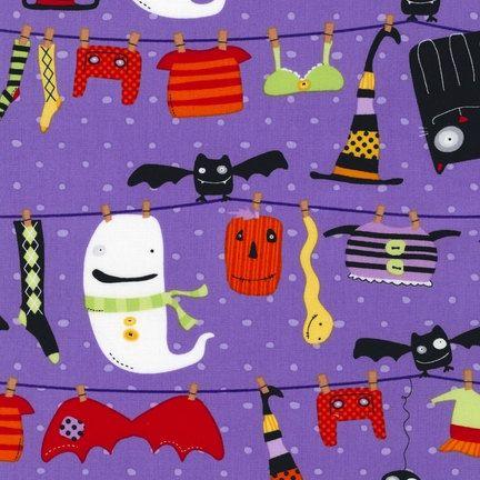Stitchy Witchy Haunts Halloween fabric by by fabricshoppe on Etsy, $9.00