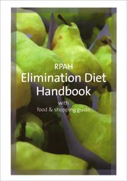 RPAH Elimination Diet Handbook with food and shopping guide. Direct link to purchase from the RPAH Allergy Unit.